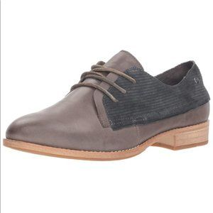 Caterpillar Leather Corduroy Tally Oxford Shoes